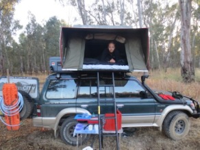 First camp by the Murray River