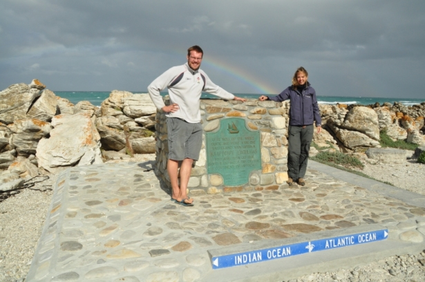 Cape Agulhas & good luck rainbow!