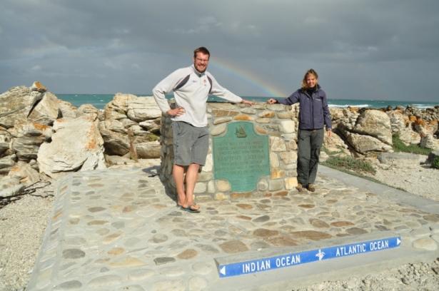 Cape Agulhas & good luck rainbow!