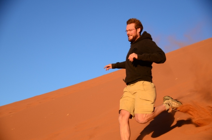 Dune running, for kids of all ages