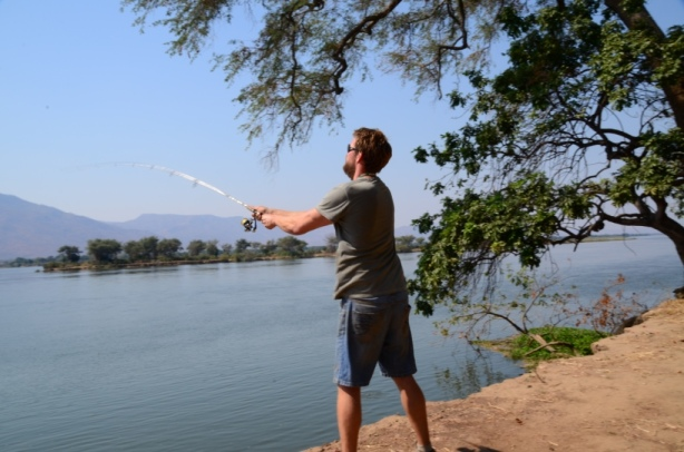 Spot of fishing on the Zambezi