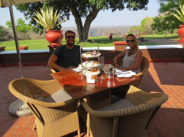 Afternoon tea at Vic Falls Hotel
