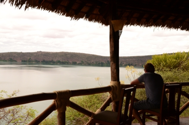 The view over Lake Chala - that's Kenya on the otherside!
