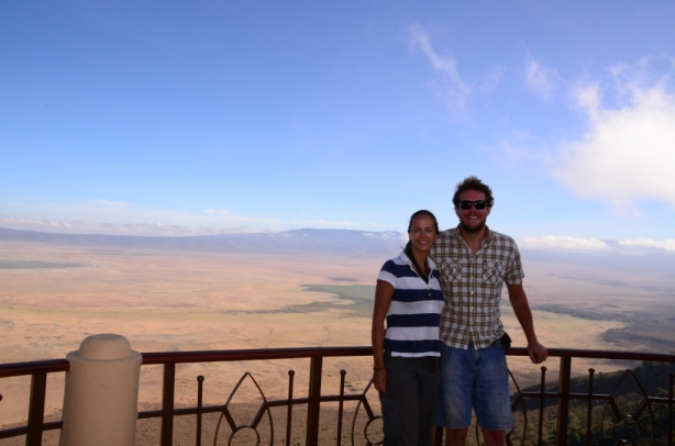 The view over the Ngorongoro crater