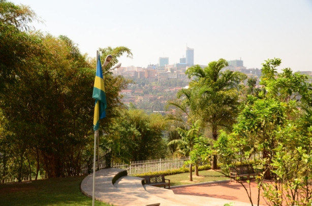 The view of Kigali from the genocide museum