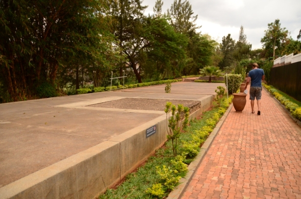 The mass graves at the genocide museum