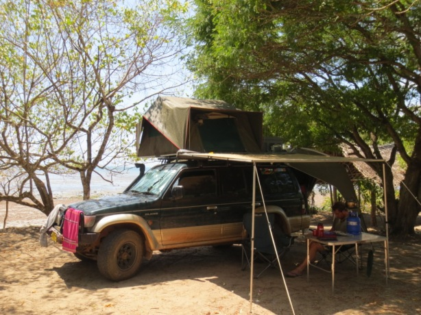 Beach camp at Peponi