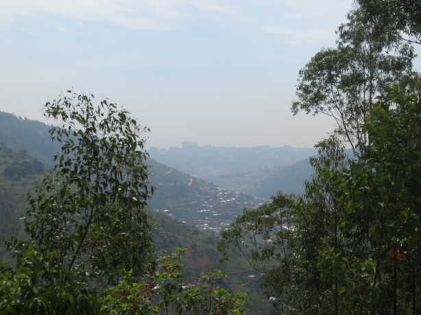 The view of Kigali spread across several valleys