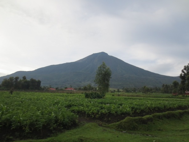 The volcanic crater of Mount Mgahinga