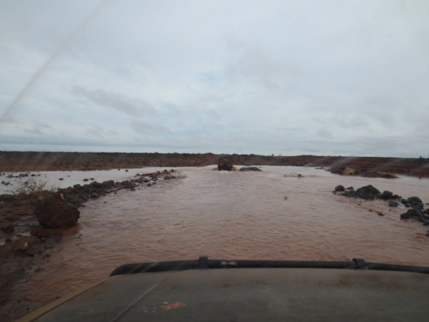 One of many huge water crossings on the way to Moyale