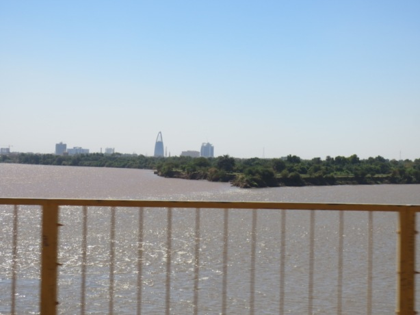 My covert attempt at taking a photo of the nile confluence!