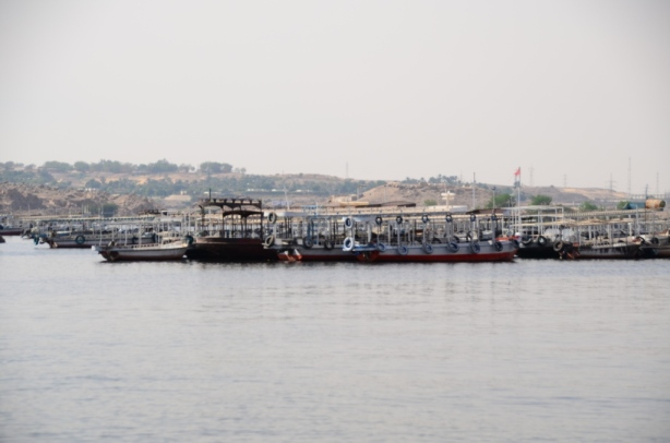 Hundreds of empty boats in Aswan