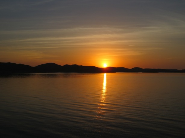 Sunrise on Lake Nasser