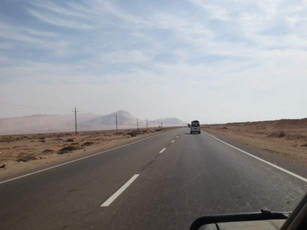 Driving in convoy through the Sinai