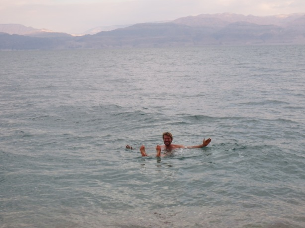 Bobbing about in the Dead Sea